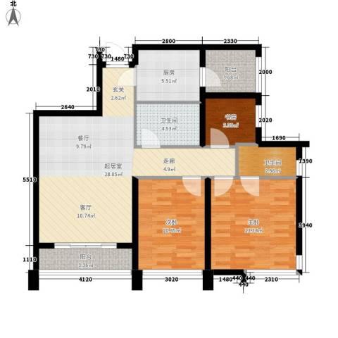 Park Tower 景杉3室0厅2卫1厨120.00㎡户型图