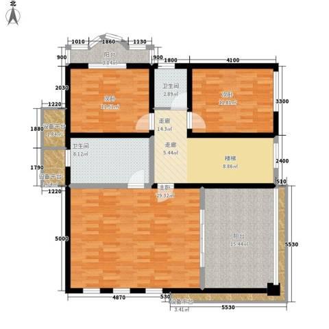 华侨新村3室0厅2卫0厨150.00㎡户型图