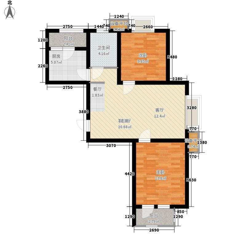 华城领秀92.52㎡一期1号楼标准层M1户型