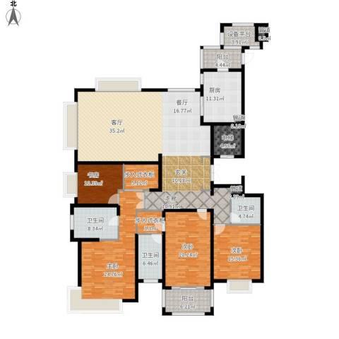 雅戈尔东海府4室1厅3卫1厨287.00㎡户型图