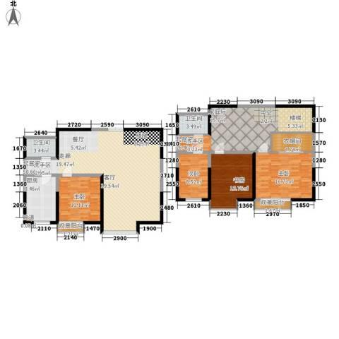 春江花月4室0厅2卫1厨169.00㎡户型图