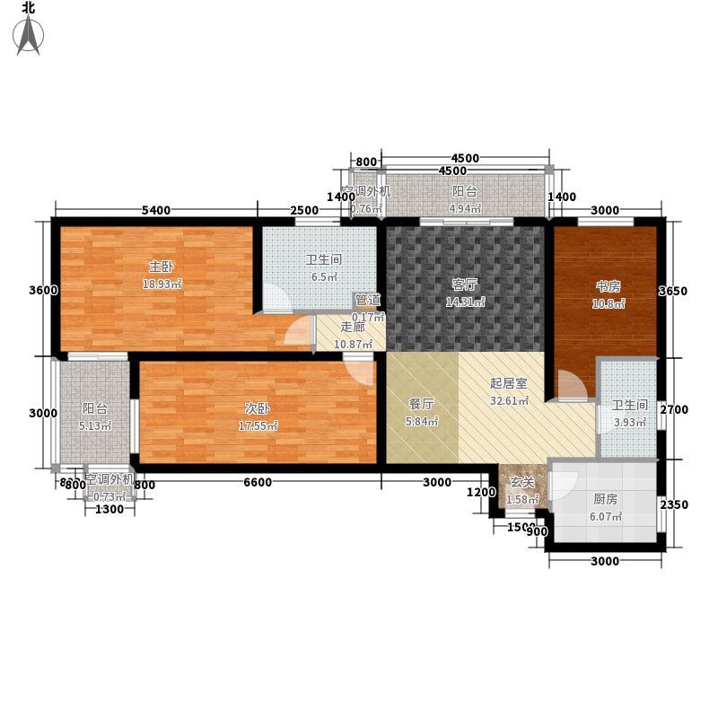 上东三角洲1.20㎡123号楼EE反面积14145m户型