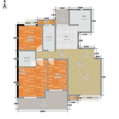 华章名府3室0厅2卫0厨157.00㎡户型图