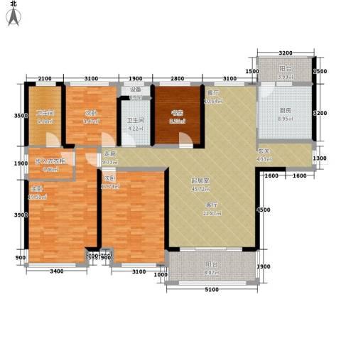 曼哈顿新贵4室0厅2卫1厨147.00㎡户型图