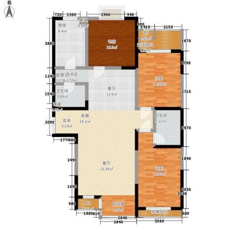春江花月3室0厅2卫1厨142.00㎡户型图