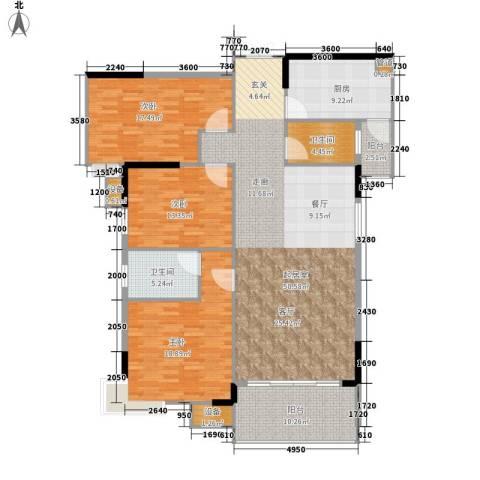 美力盈彩花苑3室0厅2卫1厨146.76㎡户型图
