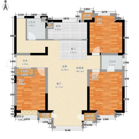 书香园3室0厅2卫1厨147.00㎡户型图