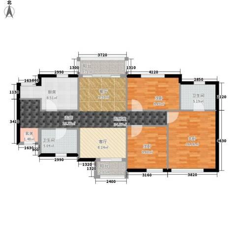 御景花园3室0厅2卫1厨107.00㎡户型图