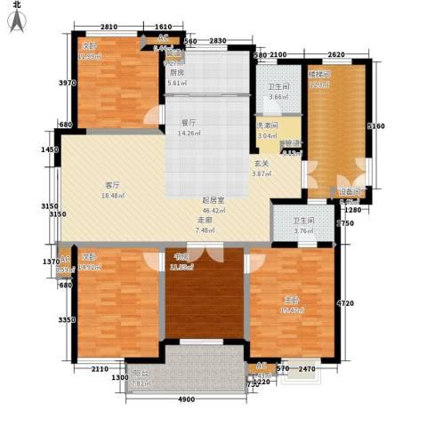 盛大开元4室0厅2卫1厨155.00㎡户型图
