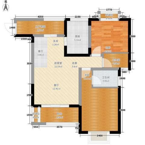 书香园2室0厅2卫1厨97.00㎡户型图