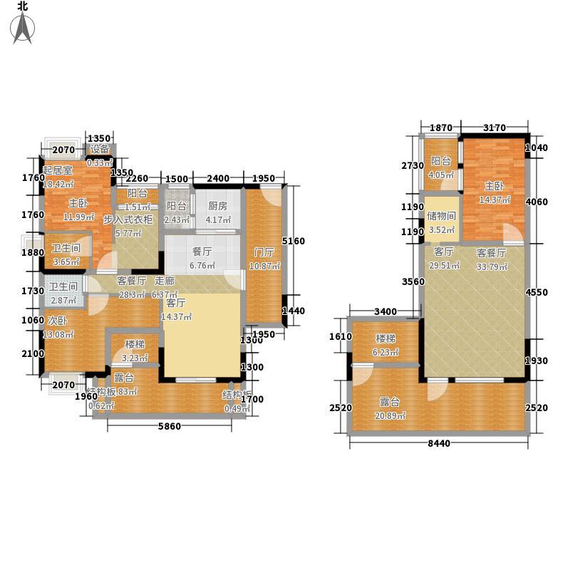 西班牙森林207.18㎡1号楼D1-6面积20718m户型