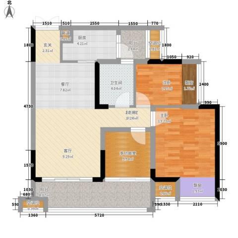 书香园2室0厅1卫1厨108.00㎡户型图