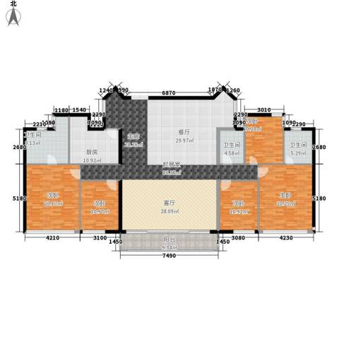 御景花园5室0厅3卫1厨216.00㎡户型图