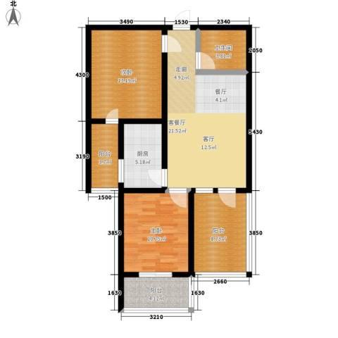 东郡名座2室1厅1卫1厨82.00㎡户型图