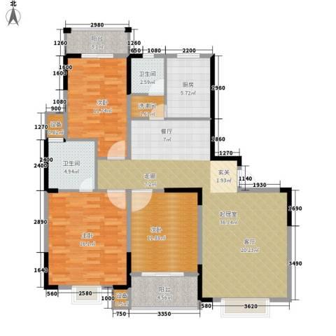 长城南雅名居3室0厅2卫1厨142.00㎡户型图