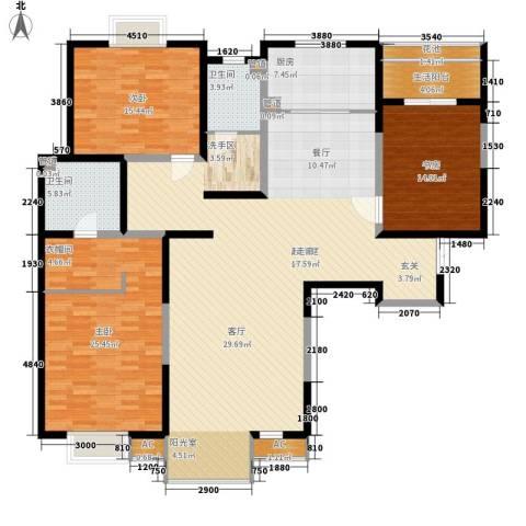 春江花月3室0厅2卫1厨169.00㎡户型图