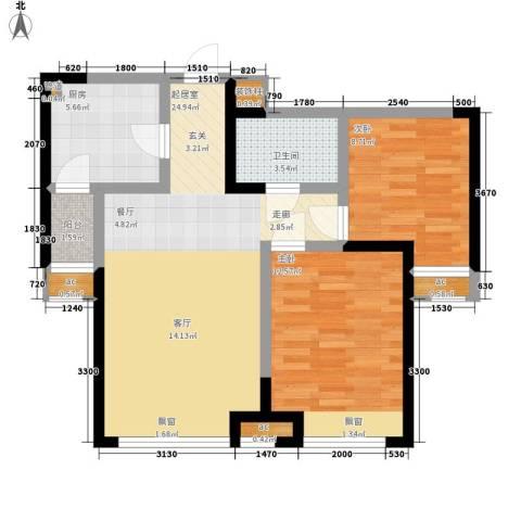 融科上城2室0厅1卫1厨88.00㎡户型图