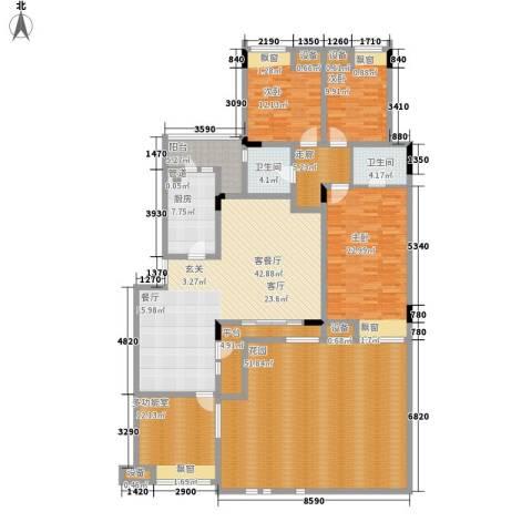 大众尚岭花园3室1厅2卫1厨185.78㎡户型图