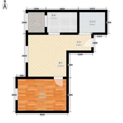 瑞宁嘉园1室1厅1卫1厨56.00㎡户型图