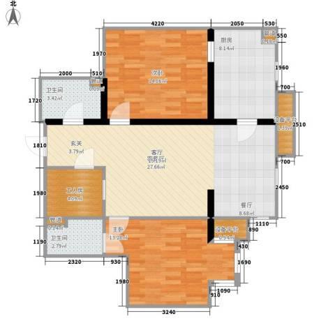 联邦东方明珠2室1厅2卫1厨101.00㎡户型图