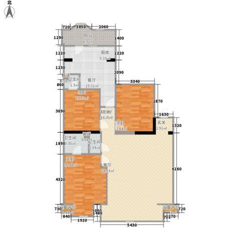 联邦东方明珠3室2厅3卫0厨147.00㎡户型图
