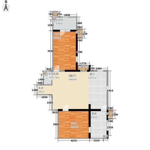 联邦东方明珠2室1厅2卫1厨120.00㎡户型图