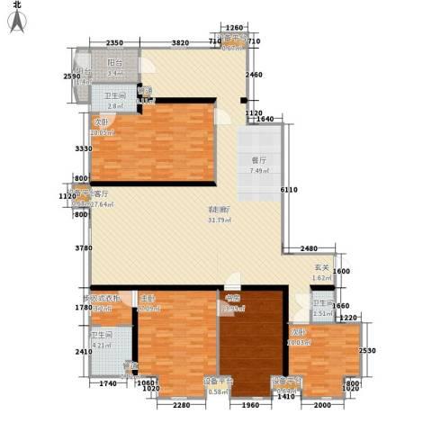 联邦东方明珠4室1厅3卫0厨181.00㎡户型图