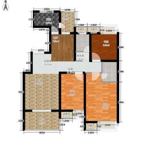 安定广场3室0厅2卫1厨137.00㎡户型图