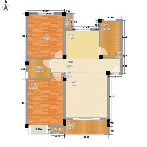 薇湖水岸2室0厅1卫1厨97.00㎡户型图