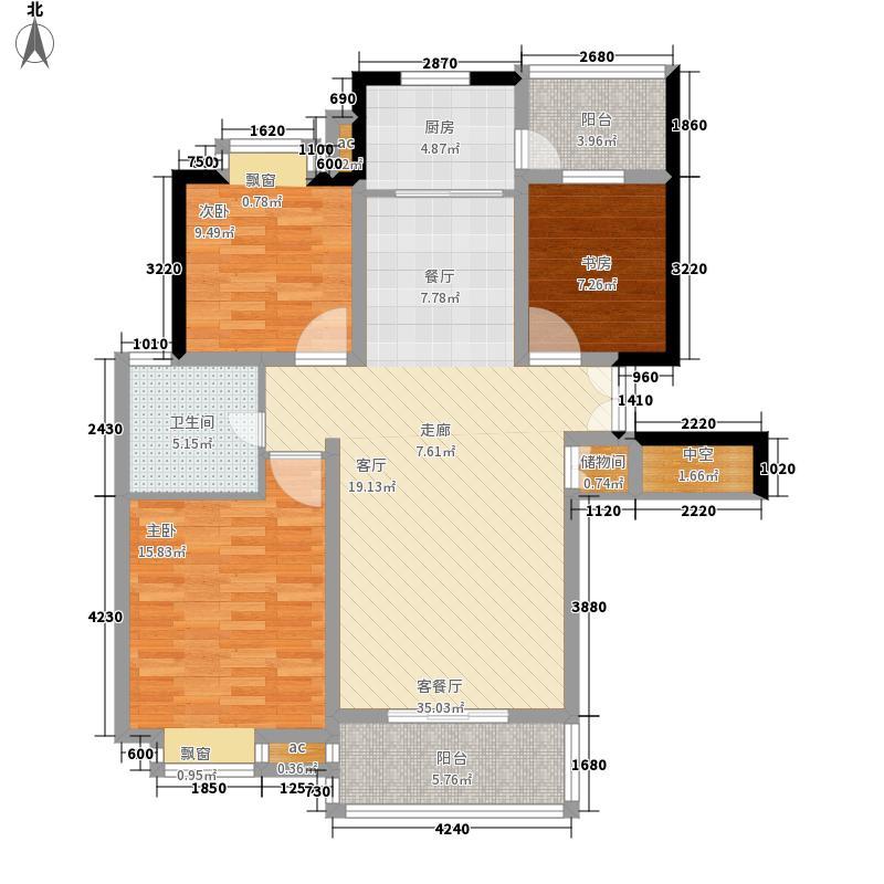居礼117.57㎡卖完面积11757m户型