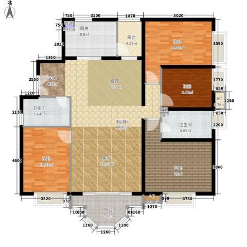 珠江广场4室1厅2卫1厨170.10㎡户型图