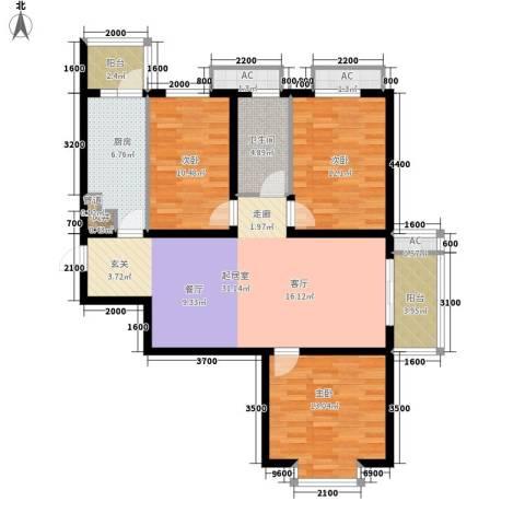 盛世家园3室0厅1卫1厨120.00㎡户型图