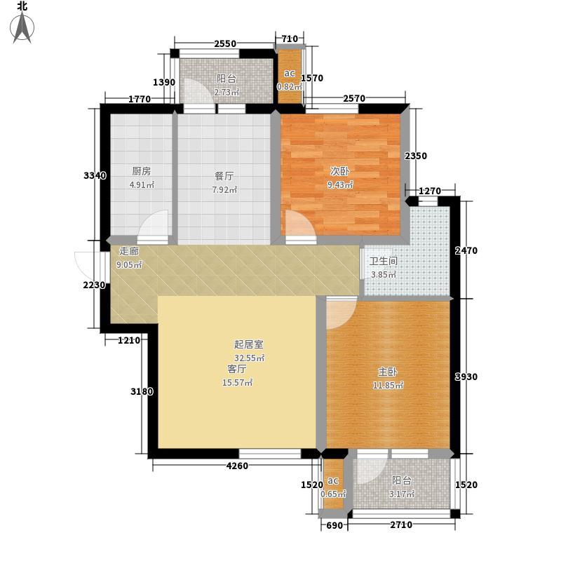 众美凤凰台103.50㎡34号楼A2面积10350m户型