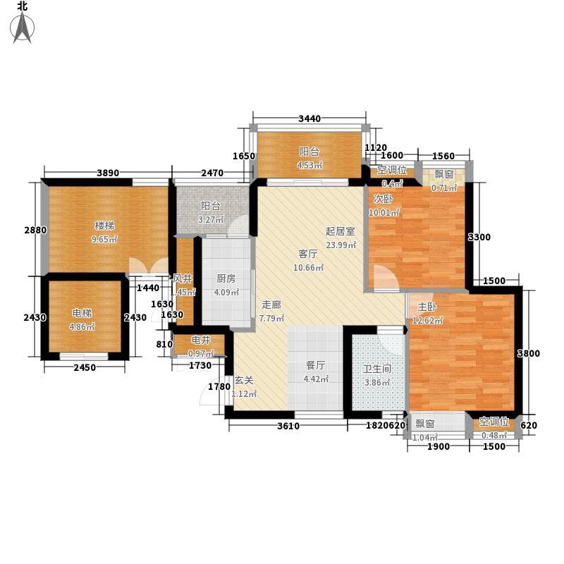 广晟海韵星洲83.00㎡7/8/9/10栋04单位户型2室2厅