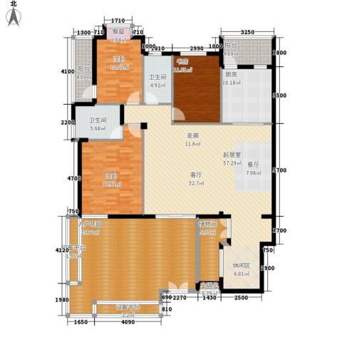 桂林奥林匹克花园3室0厅2卫1厨174.14㎡户型图
