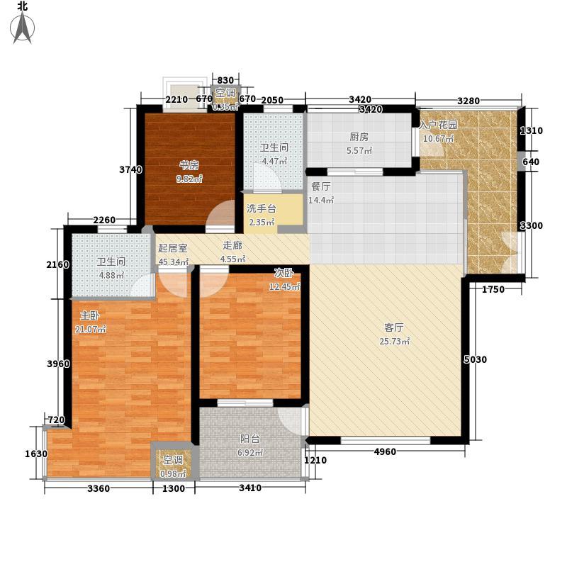 绿地世纪城138.90㎡B区8号楼面积13890m户型