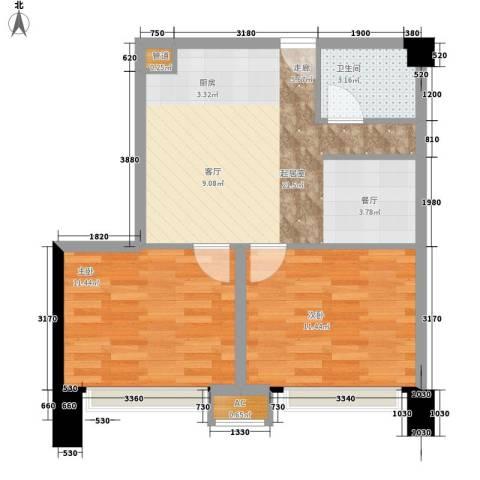 万山花园2室0厅1卫0厨68.00㎡户型图