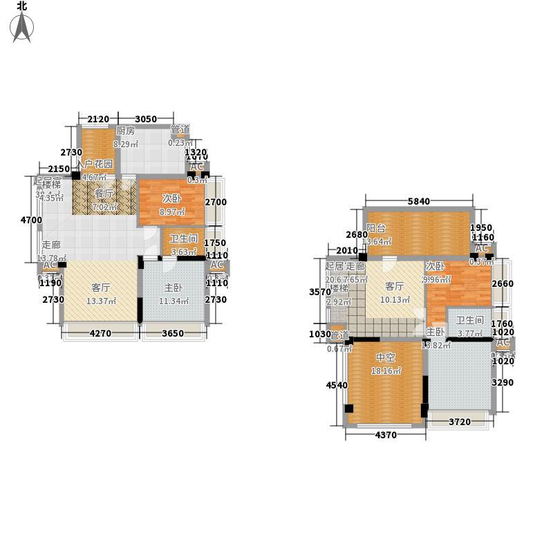 万安盛世年华二期美景中央180.38㎡二期5栋标准层E3复式户型