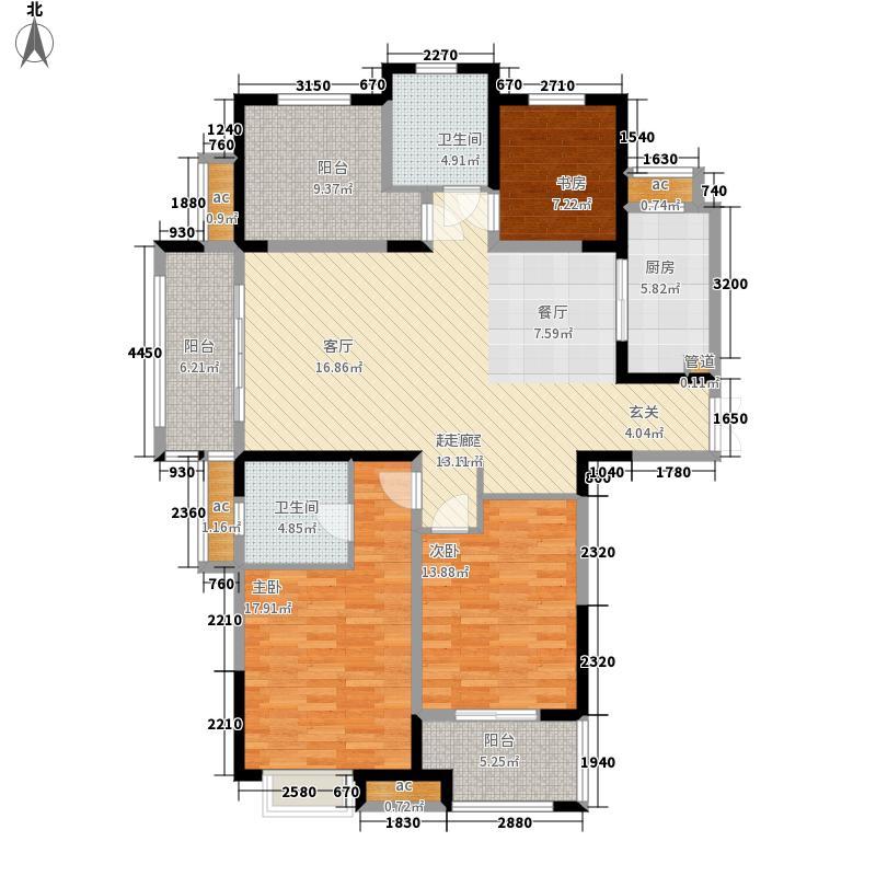阳光龙庭140.00㎡T户型3室2厅