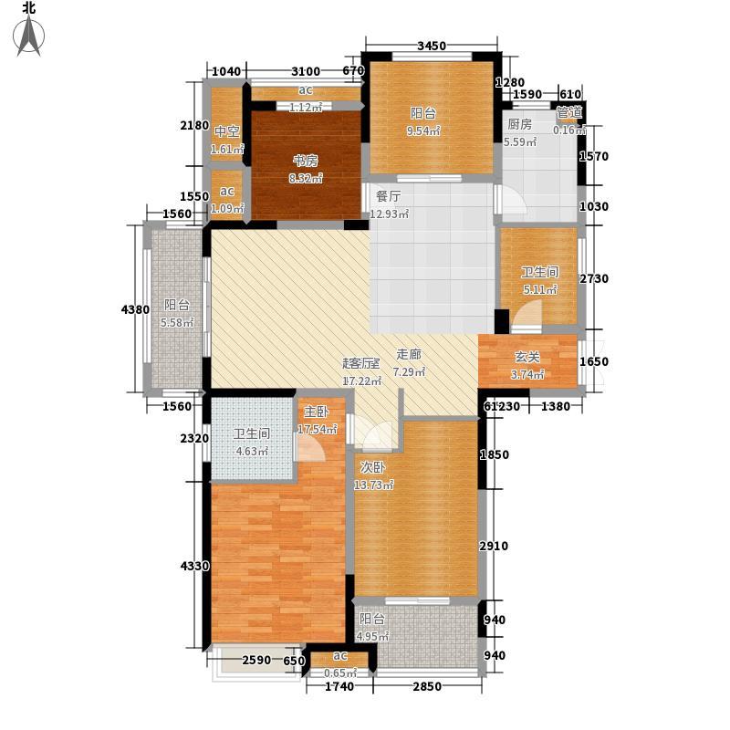 阳光龙庭138.00㎡J户型3室2厅
