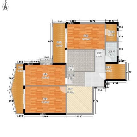 天一庄4室0厅2卫1厨128.00㎡户型图
