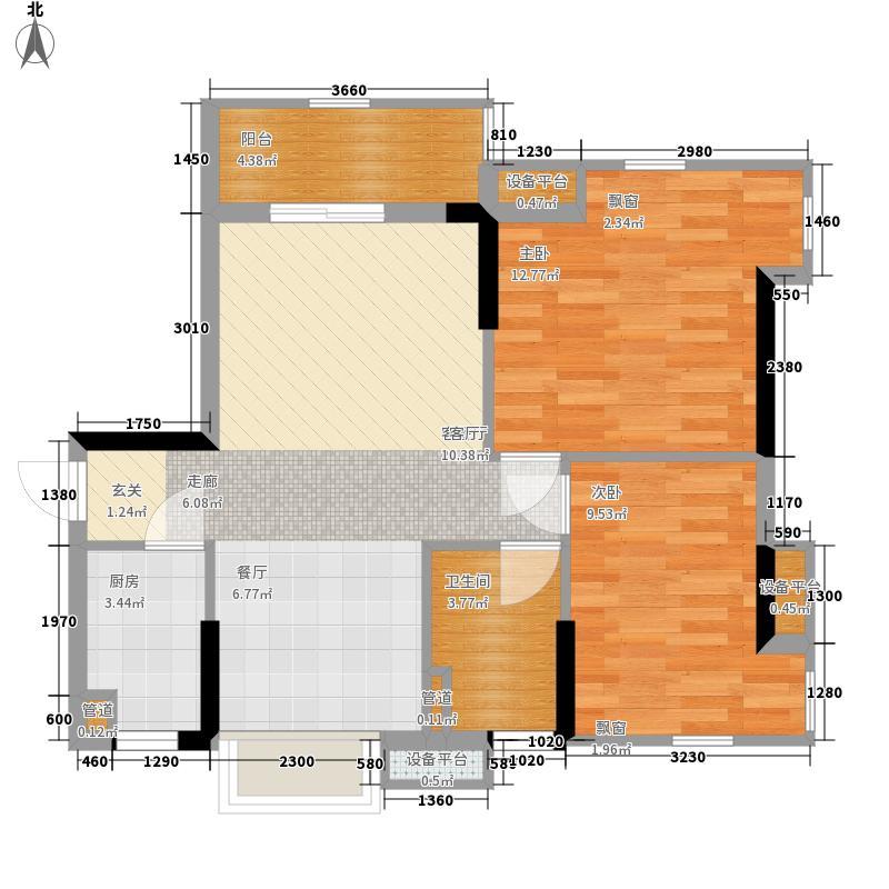 锦绣天伦花园14座2梯04单位户型2室2厅