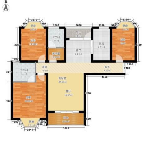天城湖光山色3室0厅2卫1厨141.00㎡户型图