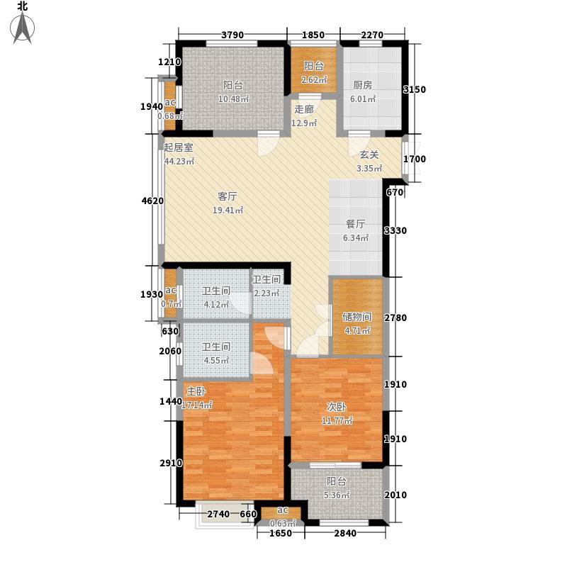 阳光龙庭130.00㎡N户型3室2厅