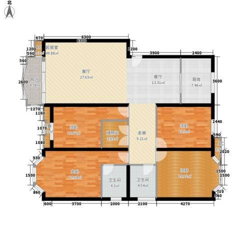 嘉业阳光城4室0厅2卫1厨155.00㎡户型图