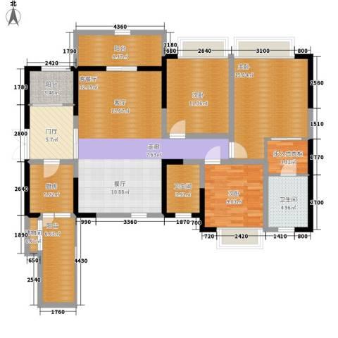南钻威尼斯3室1厅2卫1厨146.00㎡户型图
