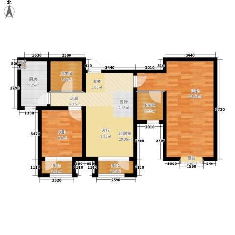 北辰新天地盛景湾2室0厅2卫1厨109.00㎡户型图