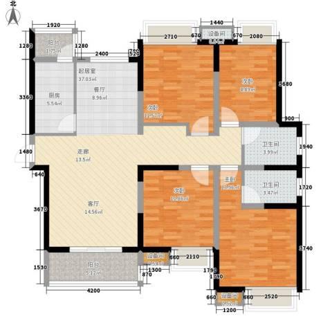 金桥太阳岛4室0厅2卫1厨139.00㎡户型图