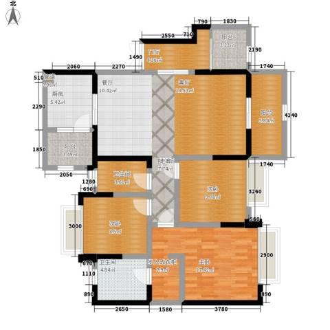 南钻威尼斯3室1厅2卫1厨138.00㎡户型图