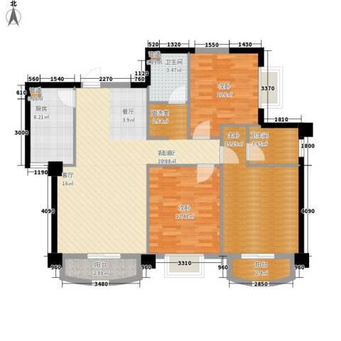 芙蓉公馆3室1厅2卫1厨127.00㎡户型图